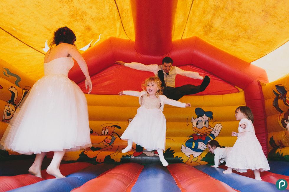 Bouncy castle at weddings