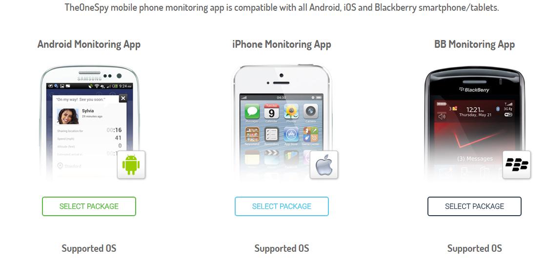 TheOneSpy mobile phone monitoring app